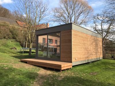 Bijgebouw in houtskeletbouw
