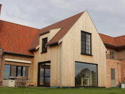 aanbouw in houtskeletbouw in Gent