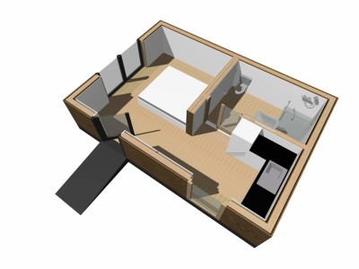 Een modulaire zorgwoning in houtskeletbouw
