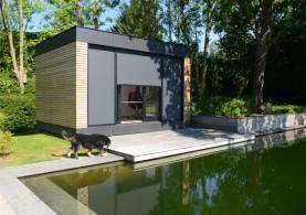 Bijgebouw als tuinkamer in houtskeletbouw