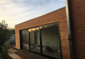 Aanbouw in houtskeletbouw in Merelbeke