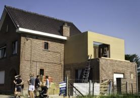 Extra verdieping in houtskeletbouw in Landen