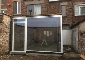 Aanbouw bijgebouw in houtskeletbouw in Gentbrugge