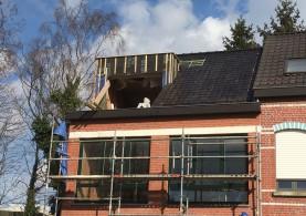 Extra verdieping bijgebouw in houtskeletbouw