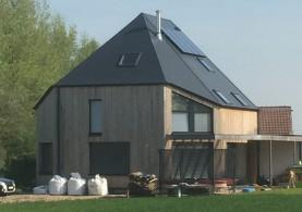 Nieuwbouw lage-energiewoning in houitskeletbouw in Ternat