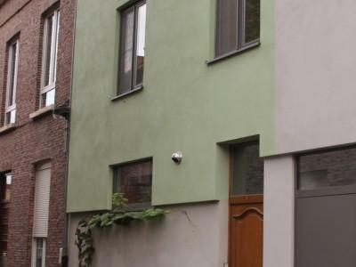 Nieuwbouw lage energiewoning in houtskeletbouw in Gent