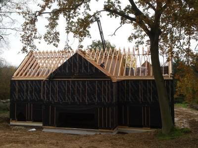 Nieuwbouw houtskeletbouw Passiefbouw in Lasne