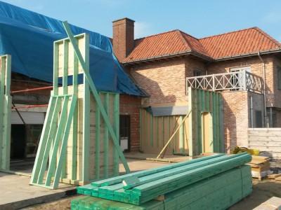 Aanbouw / bijgebouw in houtskeletbouw in Deinze
