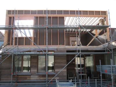 Extra verdieping / bijgebouw in houtskeletbouw in Gent