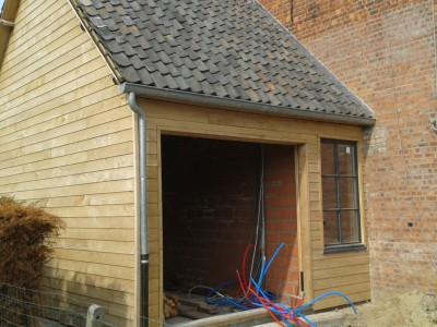 Aanbouw / bijgebouw in houtskeletbouw in Nevele