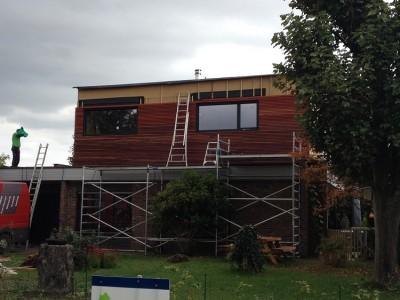 Extra verdieping / bijgebouw in houtskeletbouw in Laarne
