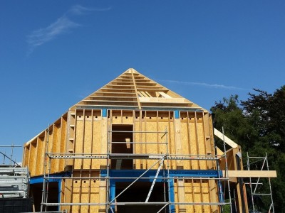 Lage-energiewoning in houtskeletbouw in Ternat