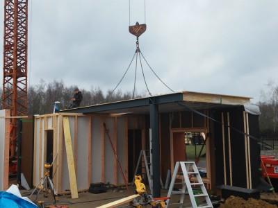 Nieuwbouw in houtskeletbouw in Nijlen