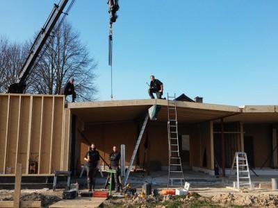 Nieuwbouw lage-energiewoning in houtskeletbouw in Oost-Vlaanderen