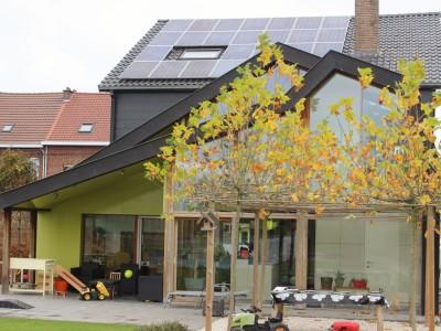 Aanbouw / bijgebouw in houtskeletbouw in Ternat