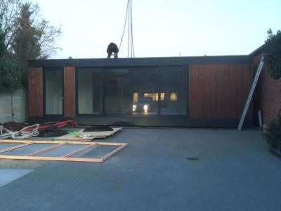 Modulair bijgebouw in houtskeletbouw