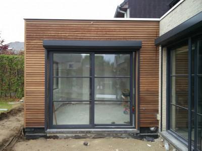 Aanbouw / bijgebouw in houtskeletbouw in Opwijk