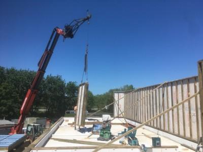 Een extra verdieping in houtskeletbouw