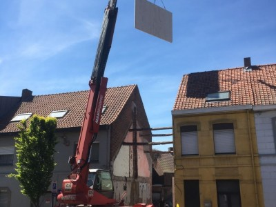 Nieuwbouw in houtskeletbouw in Torhout