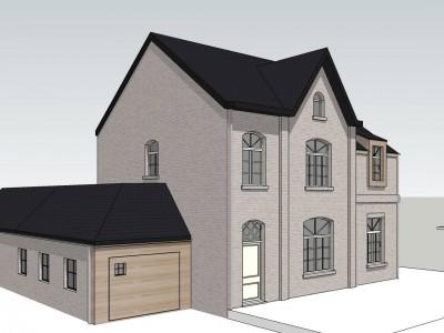 Aanbouw / bijgebouw in houtskelet in Houwaart