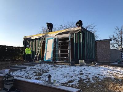 Bijgebouw in houtskeletbouw in Vlaams-Brabant