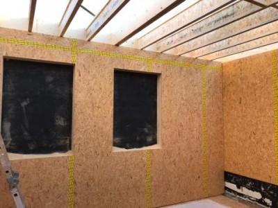 Optopping in houtskeletbouw in Opglabbeek