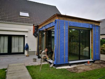 Aanbouw / bijgebouw in houtskeletbouw in Turnhout