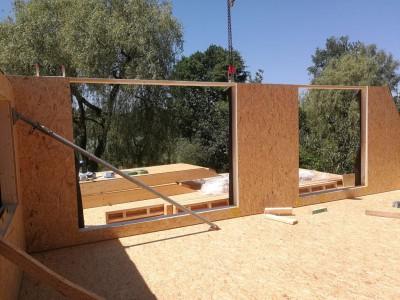 Een optopping in houtskeletbouw
