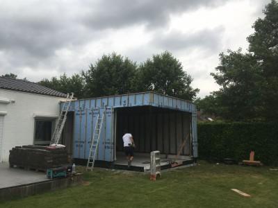 Aanbouw bijbouw in houtskeletbouw