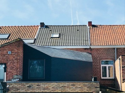 Aanbouw van een extra verdieping in houtskeletbouw in Hasselt