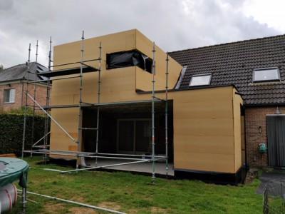 Aanbouw / bijgebouw in houtskeletbouw in Mechelen