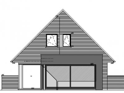 Aanbouw van een bijgebouw in houtskelet in Ichtegem