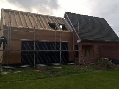 Aanbouw / bijgebouw in houtskelet in Oudenaarde